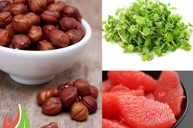 Watercress, Grapefruit and Hazelnut Salad